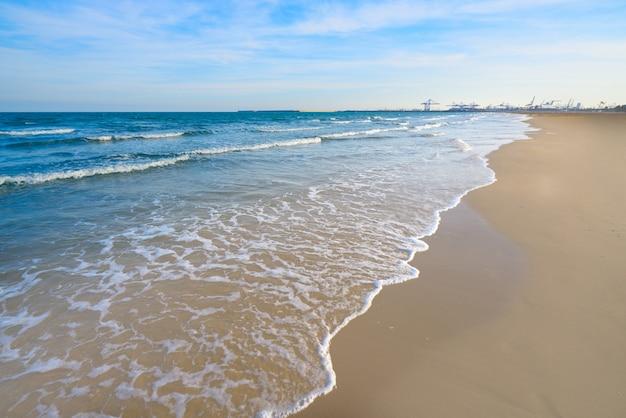 Valencia la malvarrosa playa arenas españa