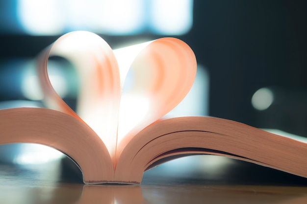 Valentine página corazón blanco símbolo novela