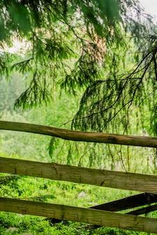 Valla de madera en los cárpatos