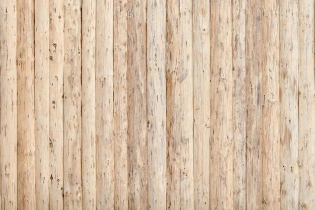 Valla de tablas de madera frescas no tratadas