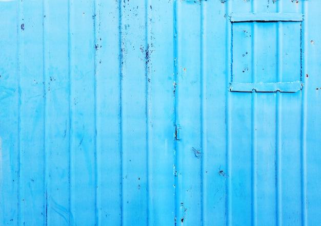 Valla de zinc azul brillante