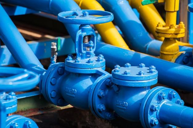 Válvulas en planta de gas