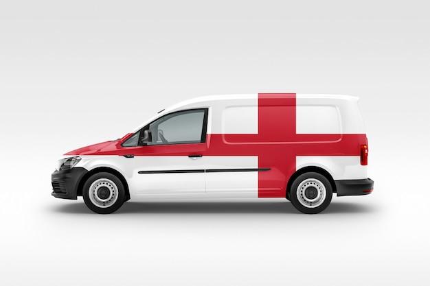 Van con bandera inglesa