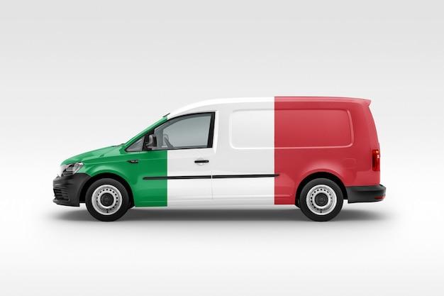 Van con bandera de italia