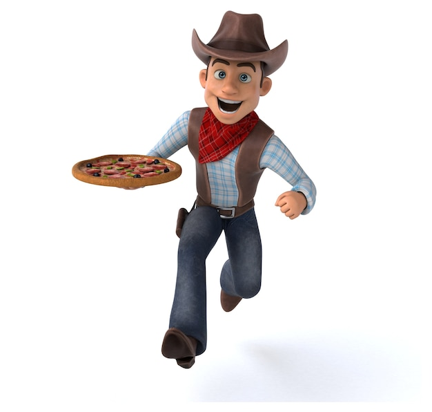 Vaquero divertido - ilustración 3d