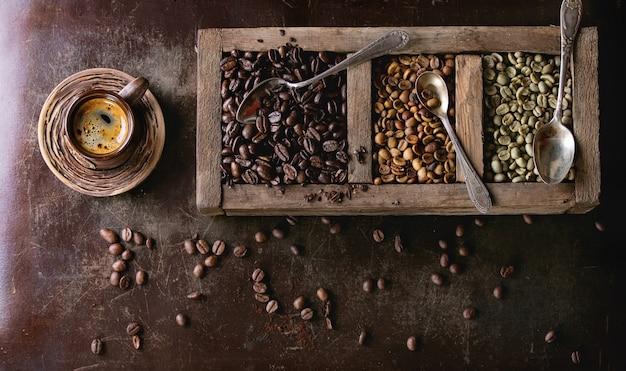 Variación de los granos de café