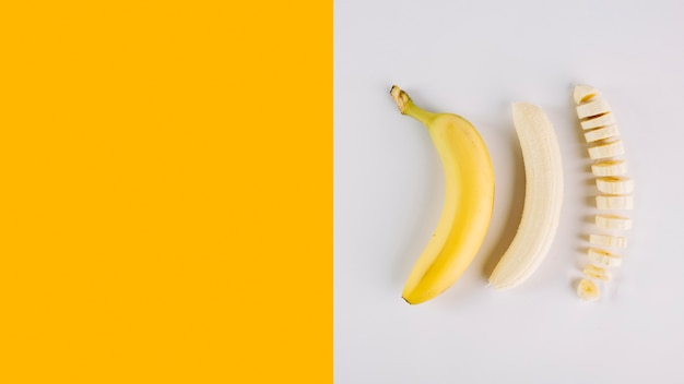 Varias condiciones de plátano