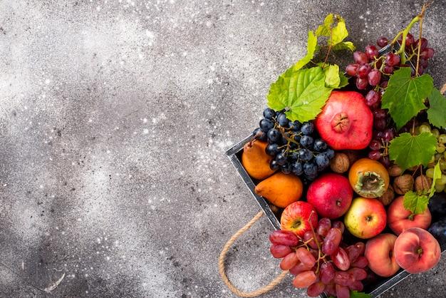Varias frutas de otoño