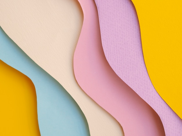 Variedad de capas de ondas de papel abstractas