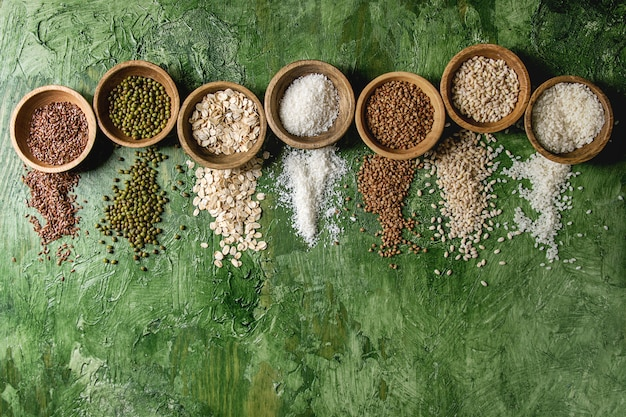 Variedad de granos