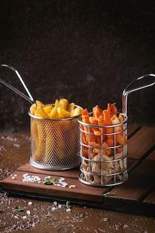 Variedad de papas fritas