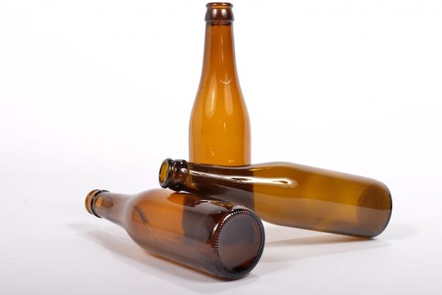 Varios botella de vidrio vacía