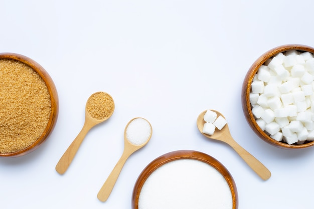 Varios tipos de azucar