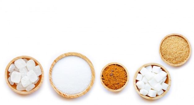 Varios tipos de azúcar