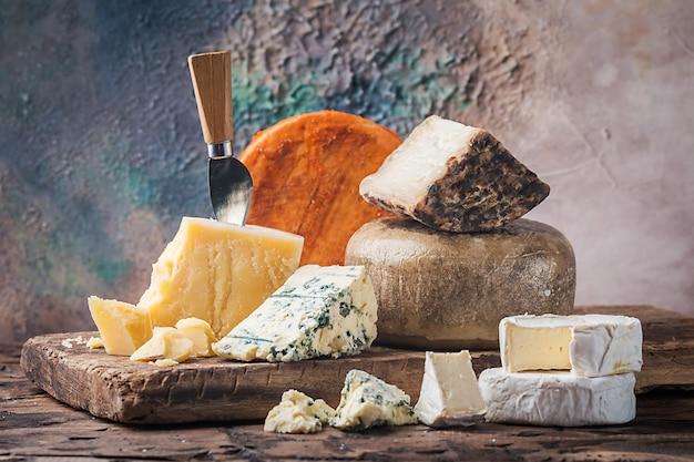 Varios tipos de queso