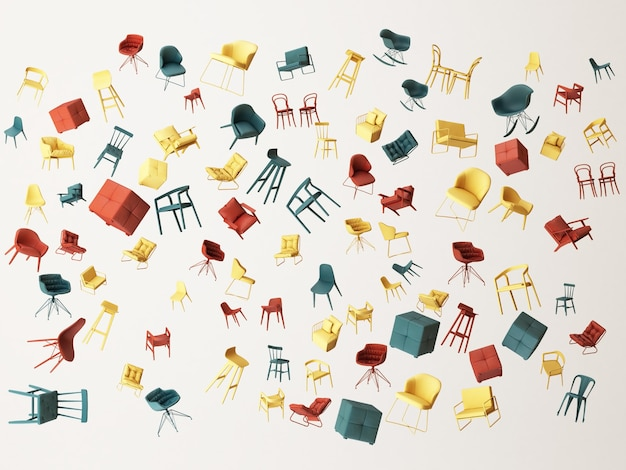 Varios tipos de sillas flotantes