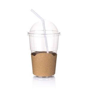 Vaso de café de plástico
