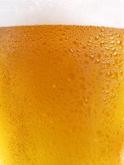 Vaso de cerveza fría como fondo
