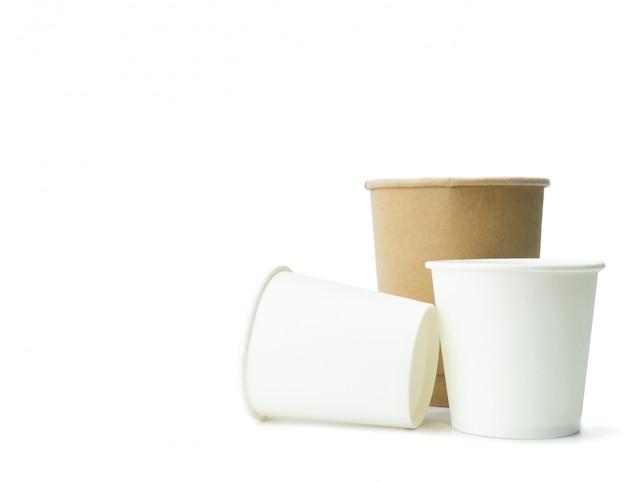 Vaso de papel con espacio de copia