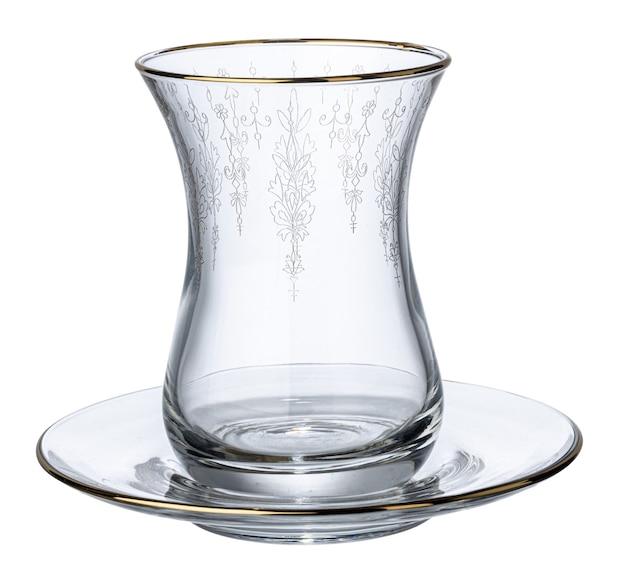 Vaso vacío para té aislado