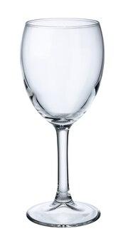 Vaso de vidrio vacío aislado