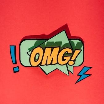 Vector ilustración de dibujos animados brillante en estilo retro del arte pop