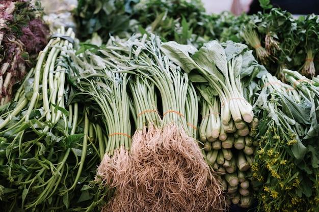 Vegetales frescos en el mercado