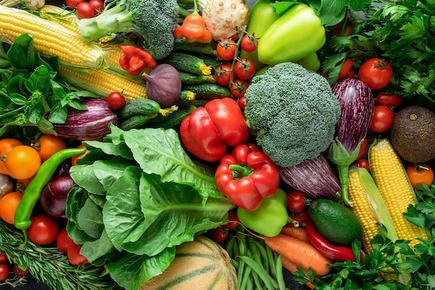 Vegetales orgánicos frescos.