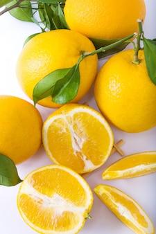 Vegetariano, refrescante, naranjas, frescura