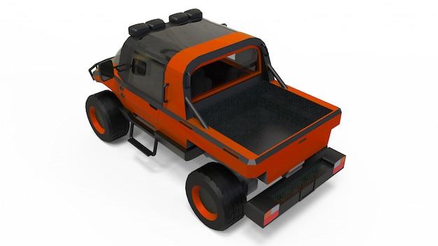 Vehículo especial todo terreno para terrenos difíciles y condiciones climáticas y de carreteras difíciles.