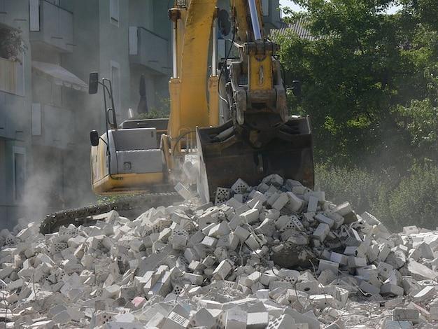 Vehículo sitio construir excavadoras de obras de construcción