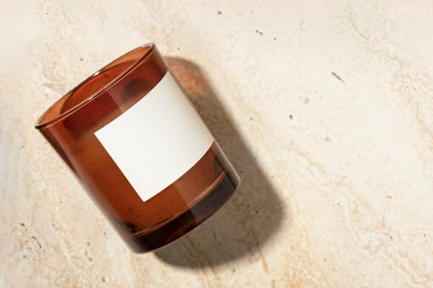 Vela aromática de lujo decorativa casera spa esencial