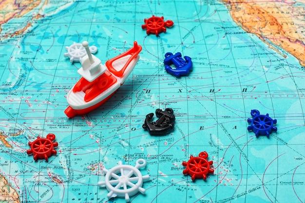 Vela y viajes por mar.