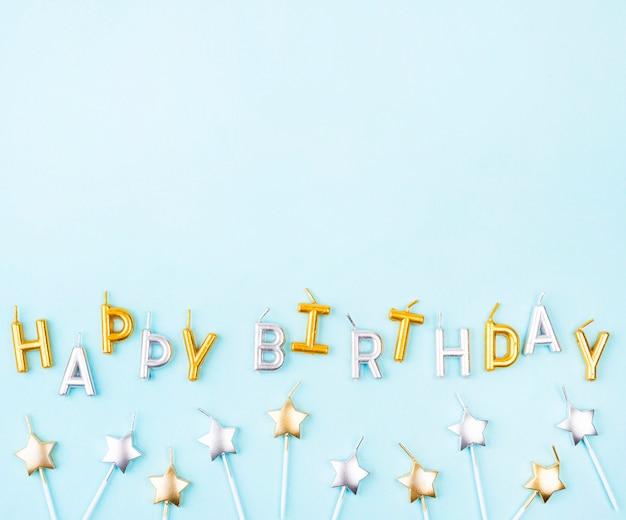 Velas de cumpleaños en forma de estrella laicos planas