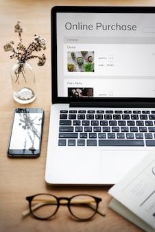 Venta de plantas de compras en línea de comercio electrónico