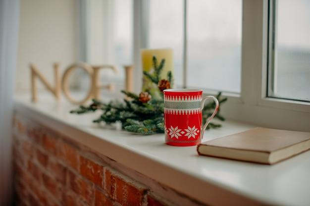Ventana de decoración de navidad