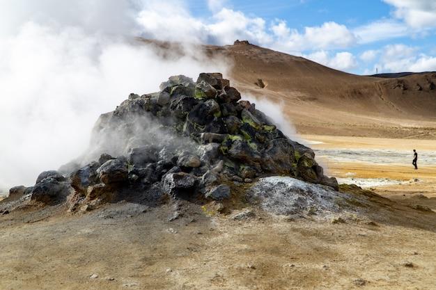 Ventilación de vapor rocoso en el norte de islandia