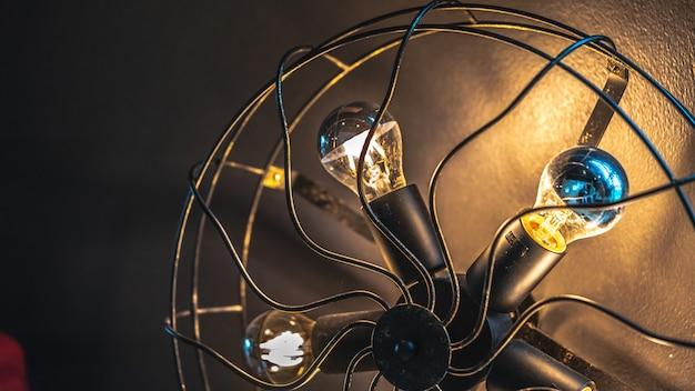 Ventilador de luz de lámpara