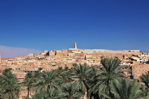 Ver en la ciudad de ghardaia en el desierto del sahara, argelia