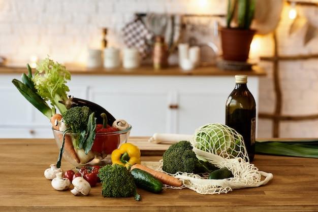 Verduras en la cocina