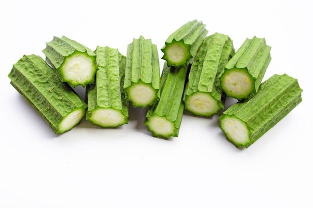 Verduras frescas de luffa.