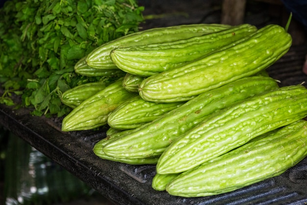 Verduras en el mercado en tailandia