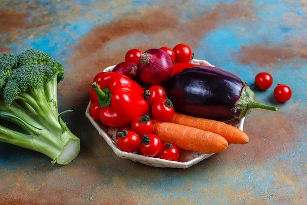 Verduras orgánicas frescas.