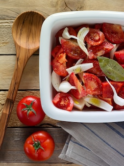 Verduras picadas para ensalada