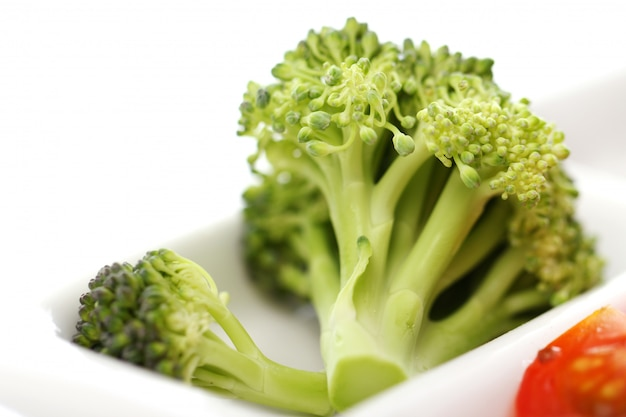 Verduras en el plato