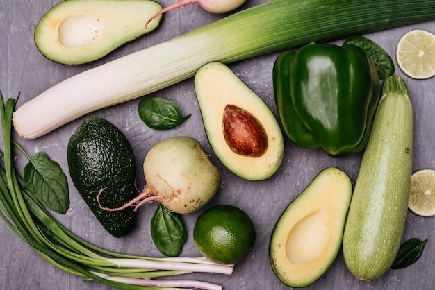Verduras útiles para la preparación de comida vegetariana.