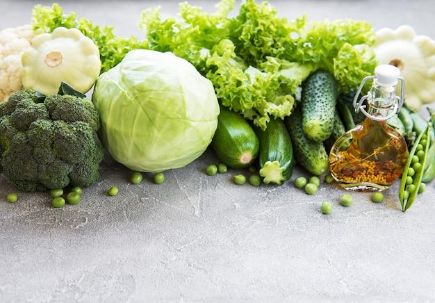 Verduras verdes frescas