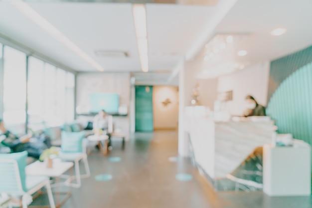 El vestíbulo del hotel de desenfoque abstracto para el fondo