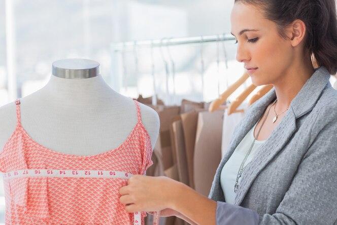 Vestido de medición de diseñador de moda
