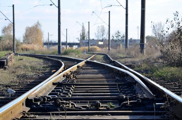 Vía férrea vacía